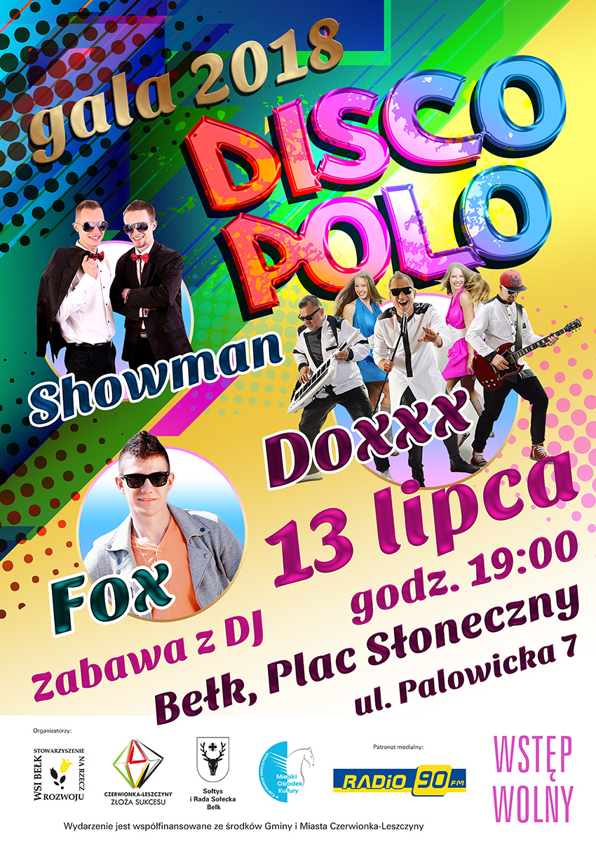 Plakat Gala Disco Polo 2018
